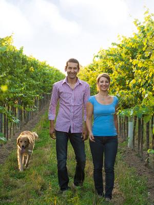 Martin und Ulli vom Weingut Diwald