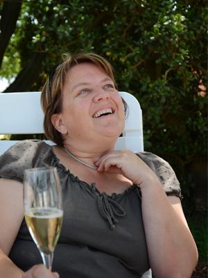 Christa van Chevallier liebt ihre perlenden Schaumweine