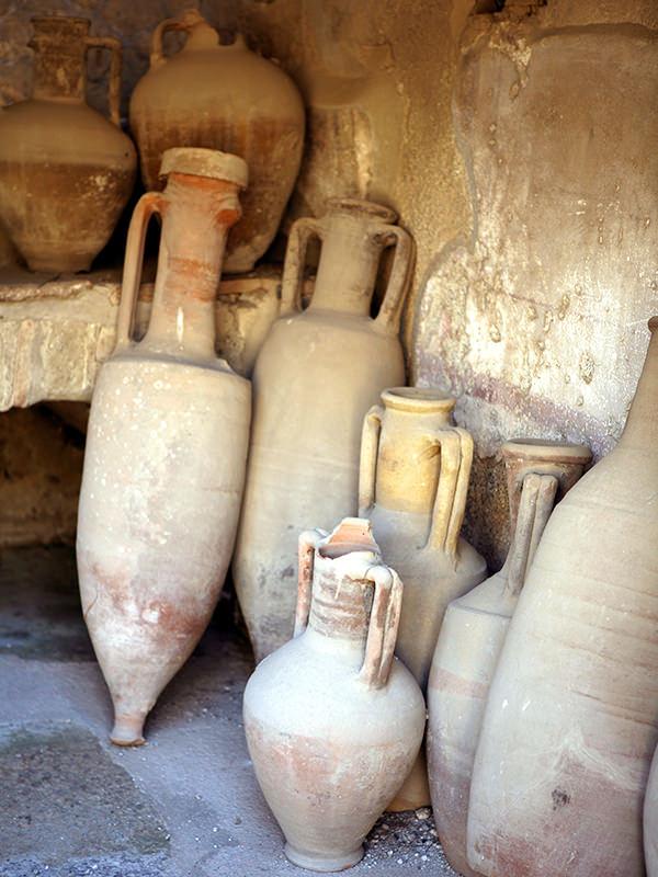 Antiker Amphorenfund in der Nähe von Rom