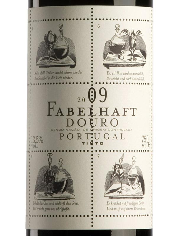 Die deutschen Fabelhaft-Etiketten zeigen Illustrationen von Wilhelm Busch