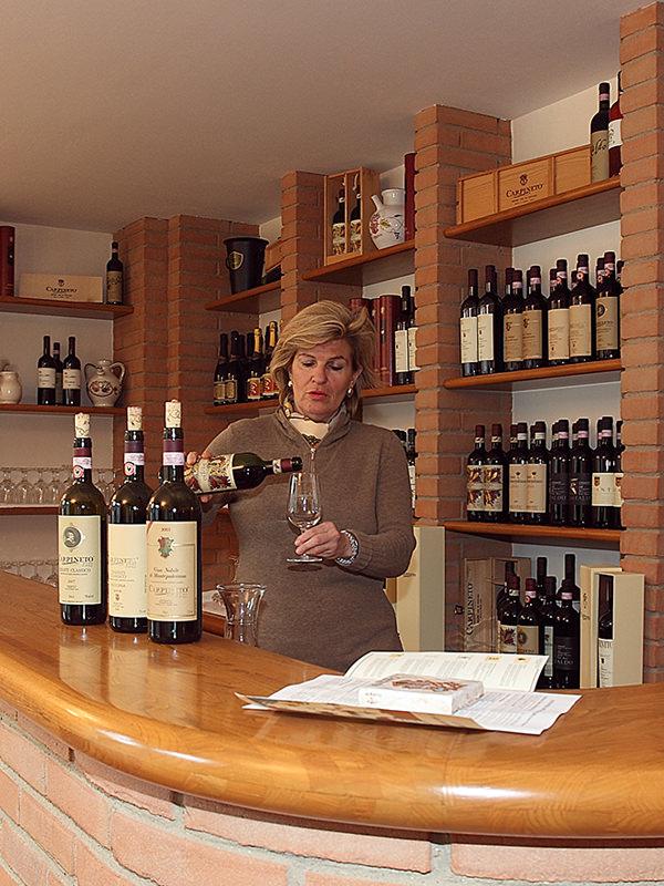 Verkostung der Carpineto Weine