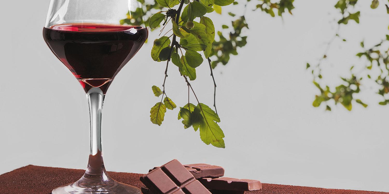 Schokolade und Wein für die heissen Tage
