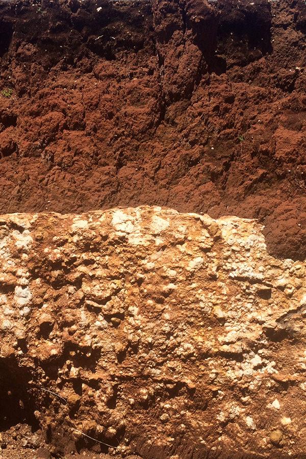 Die verschiedenen Gesteinsschichten