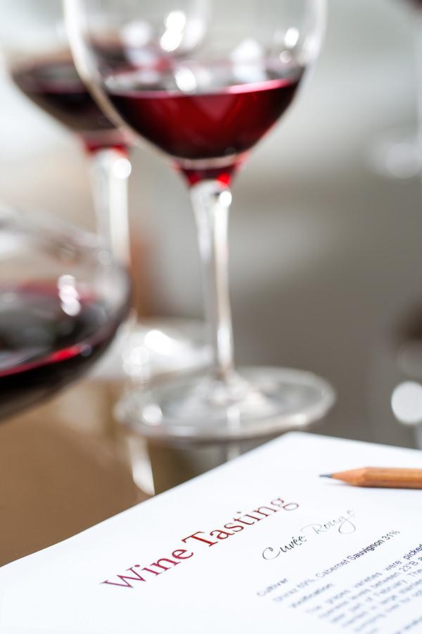 Notizen zum verkosteten Wein können hilfreich sein